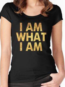 I am what I am lyric - John Barrowman (BLACK) Women's Fitted Scoop T-Shirt