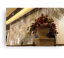 Of Flower Arrangements and Sparkling Crystals Canvas Print
