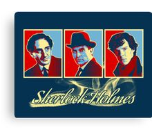 Sherlock Trilogy x3 - RYB Canvas Print