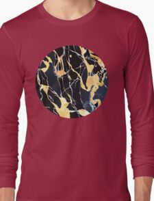 Black and gold marble Long Sleeve T-Shirt