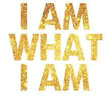 I am what I am lyric - John Barrowman (WHITE) by Daniel Bonney