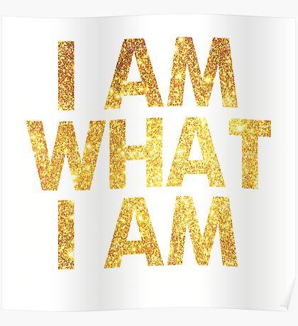 I am what I am lyric - John Barrowman (WHITE) Poster