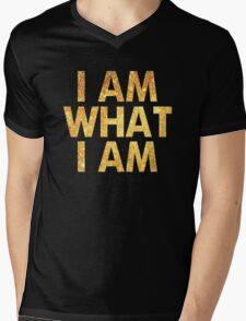I am what I am lyric - John Barrowman (WHITE) Mens V-Neck T-Shirt