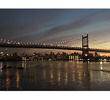 New York Night-time Skyline Photographic Print