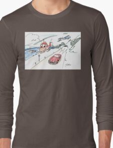 Funny car, airplane, boat and helicopter Long Sleeve T-Shirt