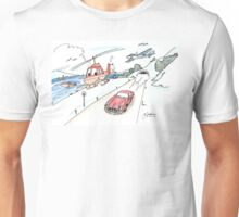 Funny car, airplane, boat and helicopter Unisex T-Shirt