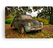 Old Glory - Renault 4CV Canvas Print