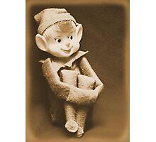Vintage Christmas Elf Photographic Print