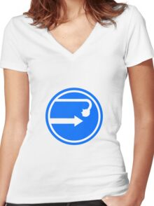 Beware of Blue Shells Women's Fitted V-Neck T-Shirt