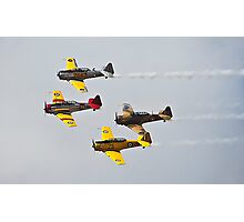 Harvard Bombers in Formation against white cloud Photographic Print
