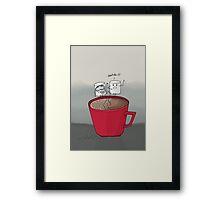 Marshmallow drama Framed Print