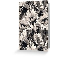 Sunflowers in Soft Sepia Greeting Card