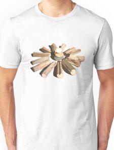 SYMBOLIC LANDSCAPE WITH ROCKS & LOGS Unisex T-Shirt