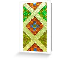 arab stained glass Greeting Card