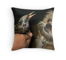 Bird in Charge Throw Pillow