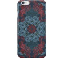 Vintage Fancy - a Pattern in Deep Teal & Red iPhone Case/Skin