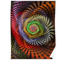 Ribbon Candy Flower Poster