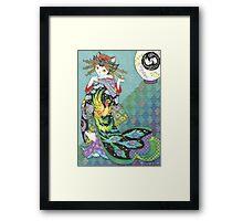 Phoenix Uchikake Kimono Kitty Framed Print