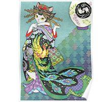 Phoenix Uchikake Kimono Kitty Poster