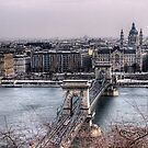 The Chain Bridge & Basilica - Budapest by NeilAlderney