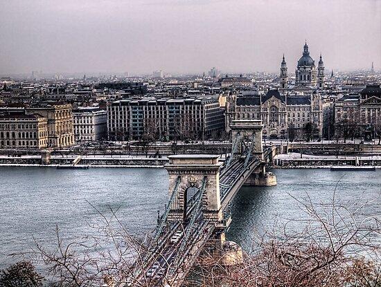 The Chain Bridge & Basilica - Budapest by NeilAlderney