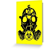 Gas Mask (cover version) Greeting Card