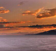 Panorama of Utah Lake Sunset by Ryan Houston