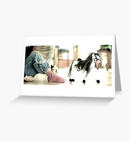Le cheval de Margot Greeting Card