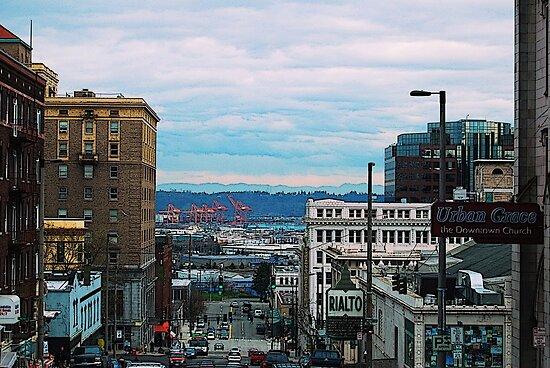 Tori Snow › Portfolio › Downtown Tacoma: www.redbubble.com/people/lavenderskyfoto/works/4749588-downtown-tacoma