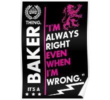 BAKER THING Poster
