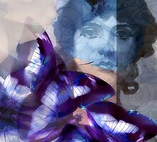 Composition With Ghosted Face, Flowers, Butterflies #1 – March 3, 2010 by Ivana Redwine