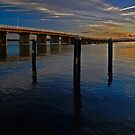 Sunset on Forster Bridge by bazcelt