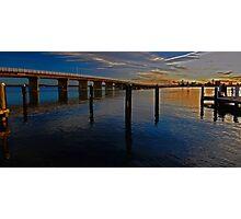 Sunset on Forster Bridge Photographic Print