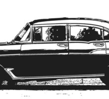 Old Classic Car Sticker