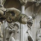 York Minster gargoyle detail  by BronReid