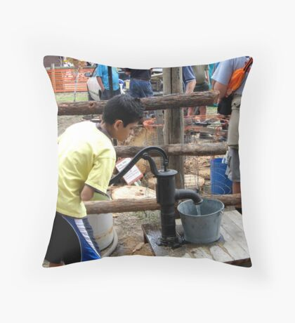 Before Taps Came Along Throw Pillow