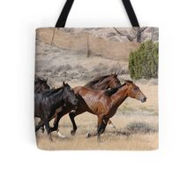 Horses On The Move Tote Bag