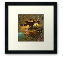 Ancient water Framed Print