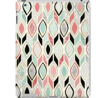 Patchwork Pattern in Coral, Mint, Black & White iPad Case/Skin
