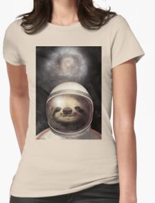 Space Sloth Womens Fitted T-Shirt