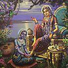 Krishna disguised as gopi by Vrindavan Das
