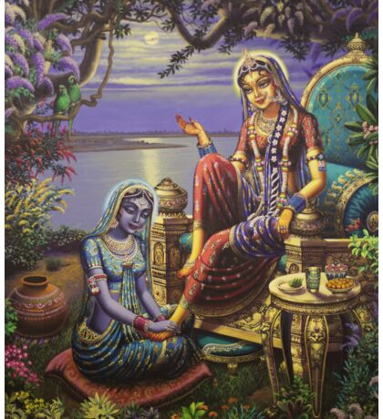 Krishna disguised as gopi Sticker