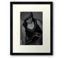 Jodie and the Guitar :D Framed Print