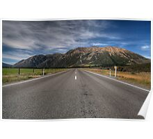Road to Lake Pearson, NZ Poster