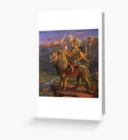 Shree Durga Greeting Card