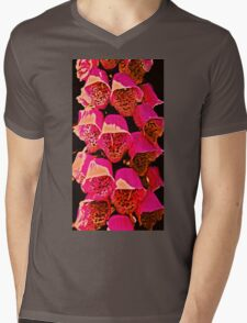 Stacked Color Mens V-Neck T-Shirt