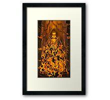 Buddha. Fire of meditation Framed Print