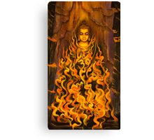 Buddha. Fire of meditation Canvas Print