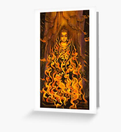 Buddha. Fire of meditation Greeting Card