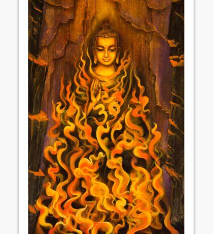 Buddha. Fire of meditation Sticker